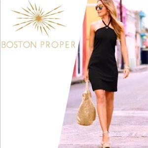 New Boston Proper Beyond Travel halter dress.